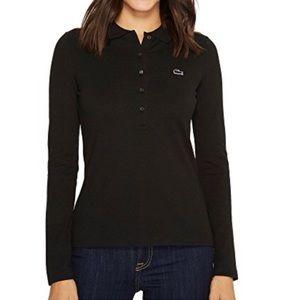 Lacoste Long Sleeve Pique Polo- Black